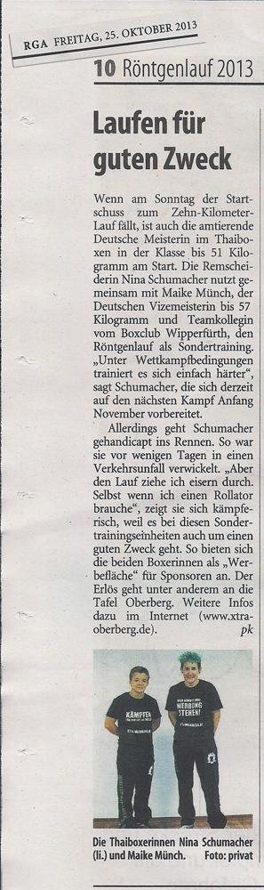 RGA Sonderteil Röntgenlauf 26.10.2013