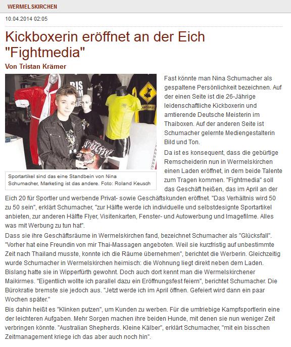Quelle: RGA - Wermelskirchen 10.04.2014