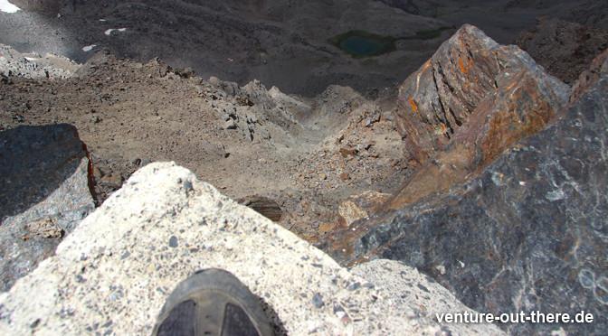 Mulhacen: 3482m - Blick nach unten