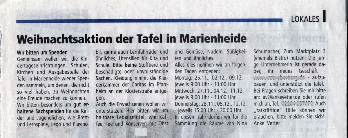 Tafel Marienheide
