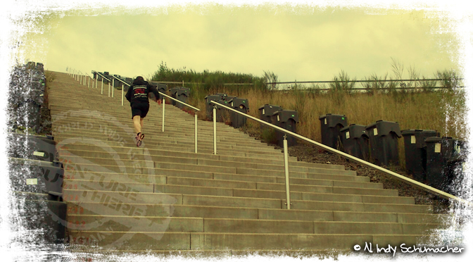 Treppenlauf am Sonntag...