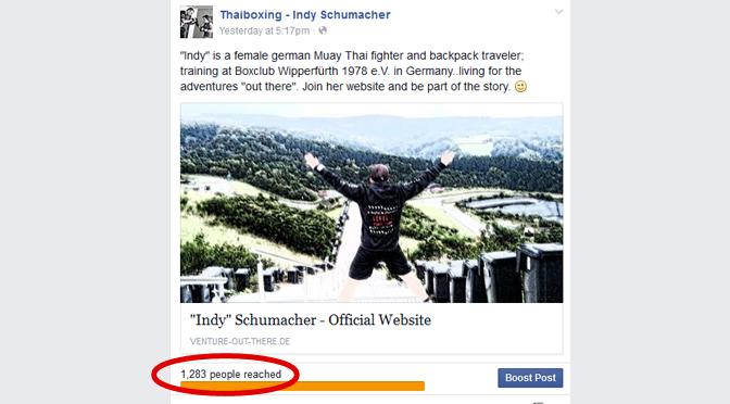 Klicks on facebook