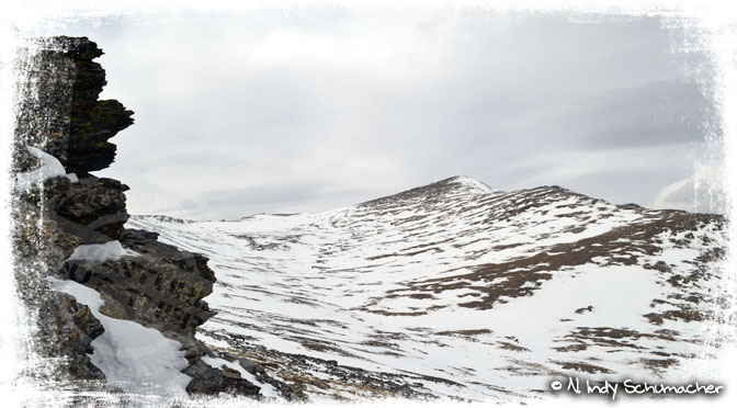 Alcazaba - Schneefelder erschweren den Weg nach oben